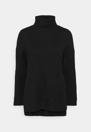 Long line seam detail - Sweter - black