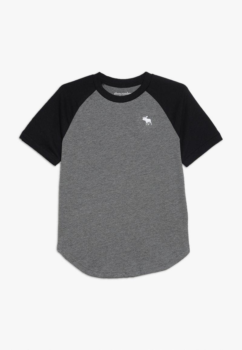 Abercrombie & Fitch - BASIC RAGLAN CREW - T-shirt med print - grey/black
