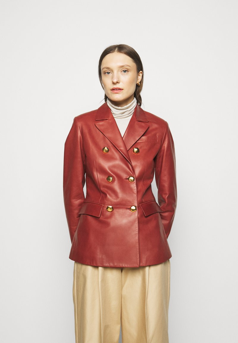 Bally - Leather jacket - spice