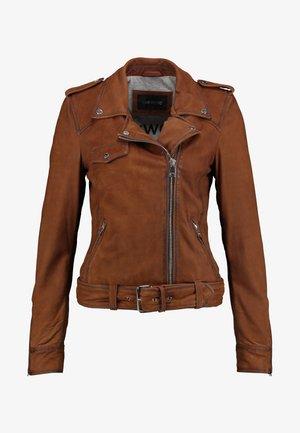 PLEASE - Leather jacket - whisky