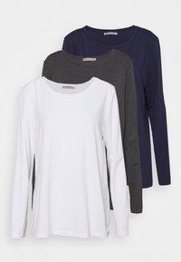 mottled dark grey/white/dark blue