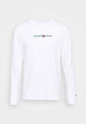 LOGO TEE UNISEX - Long sleeved top - white