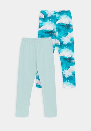 HAPPY DOLPHINS 2 PACK - Leggings - light blue
