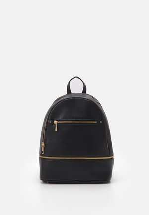 DOUBLE ZIP BACKPACK - Ryggsekk - black