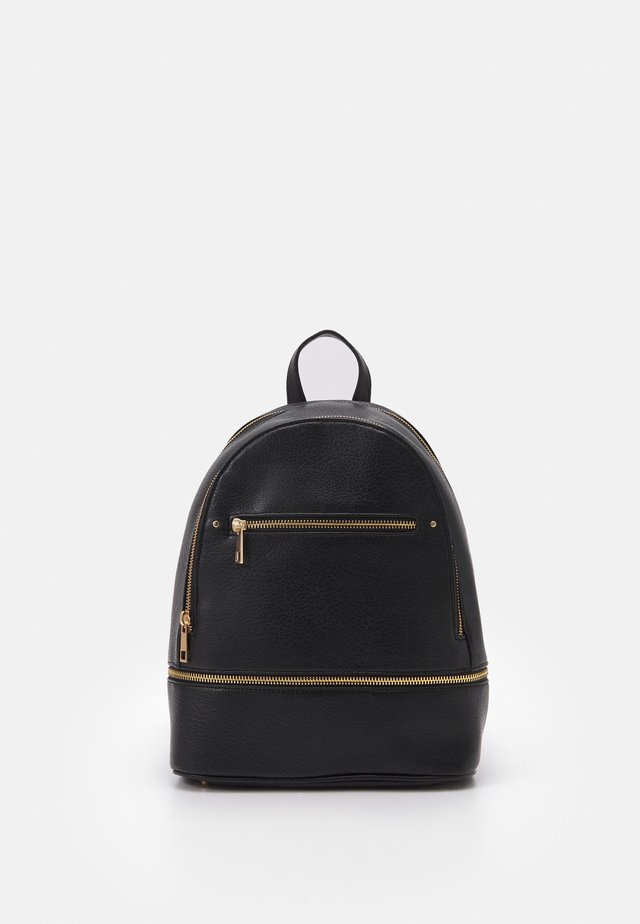 DOUBLE ZIP BACKPACK - Sac à dos - black