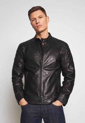 DARWIN - Leather jacket - black