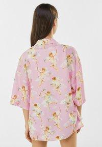 Bershka - Button-down blouse - pink - 2