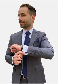 Massi Morino - 4 PIECE SET - Cravatta - blau quadrat - 0