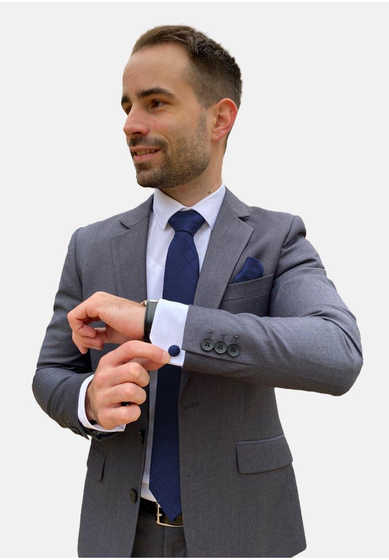 Massi Morino - 4 PIECE SET - Cravatta - blau quadrat