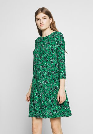 PRINTED MATTE DRESS - Day dress - malachite/navy