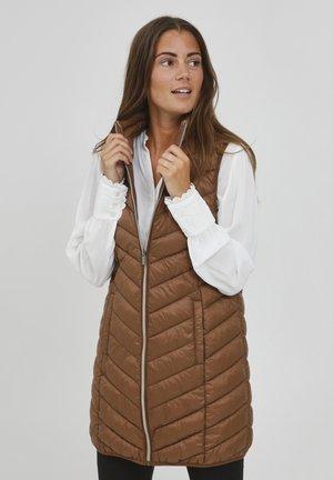 FRBAPADDING OUTERWEAR - Waistcoat - gold brown