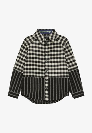 CUT SEW CHECK STRIPE - Shirt - black/white