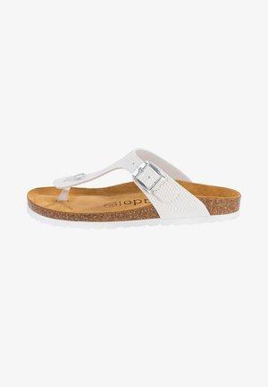 PALADO KOS - T-bar sandals - weiß dots