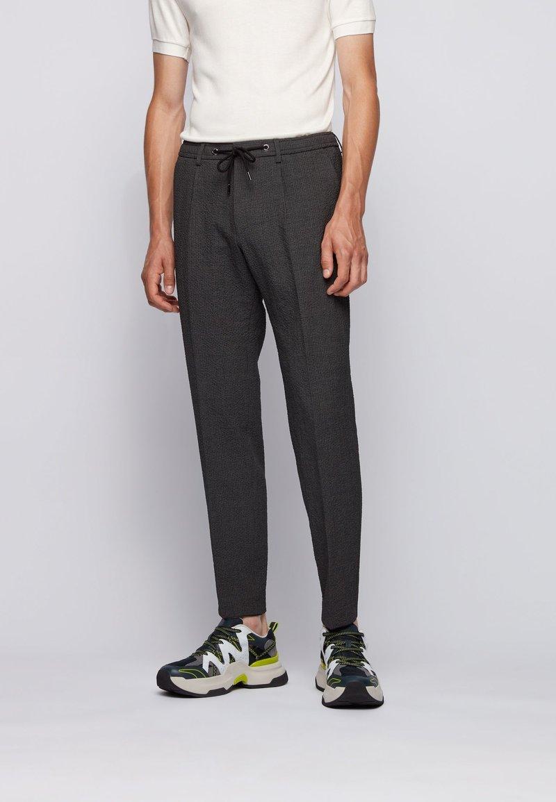 BOSS - BARDON - Trousers - dark grey