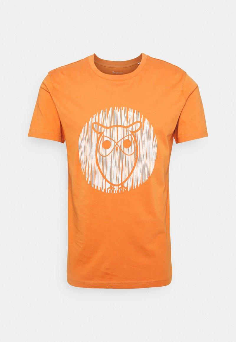 KnowledgeCotton Apparel - ALDER OUTLINE TEE - T-shirt med print - abricut buff