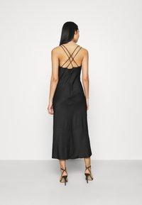 Vero Moda - VMCENTURY OPEN BACK DRESS - Společenské šaty - black - 2