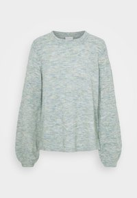 Vila - VIBUBBLE  - Jumper - green milieu/forest night/patriout - 0