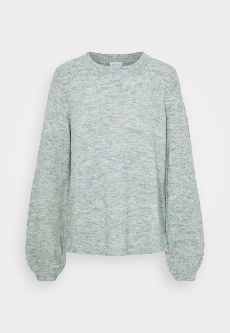 Vila - VIBUBBLE  - Jumper - green milieu/forest night/patriout