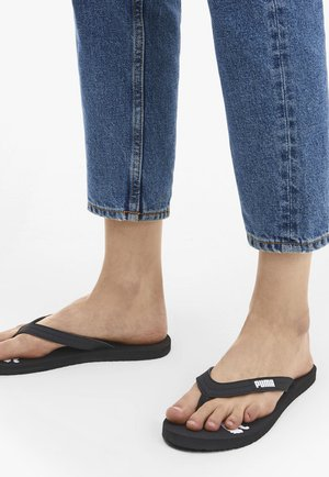 COSY  - T-bar sandals - black/white