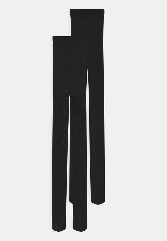 GLITTER/SOLID 2 PACK - Sukkahousut - black