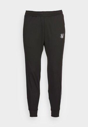 STATUS TAPE CUFFED PANTS - Teplákové kalhoty - black