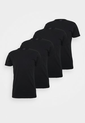 4 PACK BASIC CREW TEE - Pyjama top - black