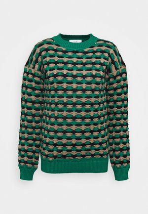 GEOMETRIC CREWNECK - Strickpullover - spearmint green