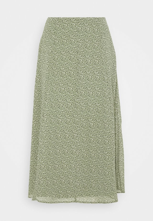 SKIRT - A-line skjørt - light khaki