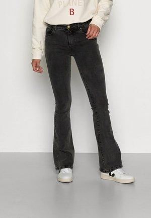 RAVAL - Flared jeans - black stone