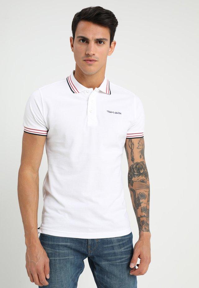 PASIAN - Polo shirt - blanc/blue/red
