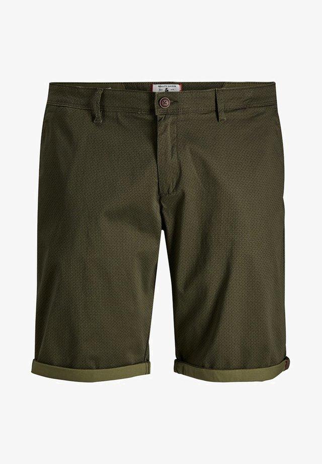 PLUS SIZE SHORTS STRETCH - Shorts - olive night