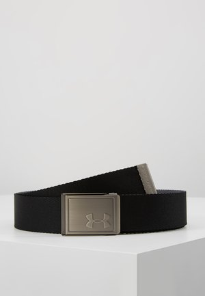 MENS WEBBING BELT - Belt - black/pitch gray/silver