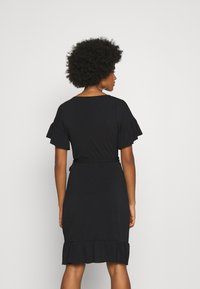 Vero Moda - VMPOPPY TIE SHORT DRESS - Shift dress - black - 2