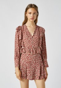 PULL&BEAR - MIT VOLANT - Blouse - dark red - 0