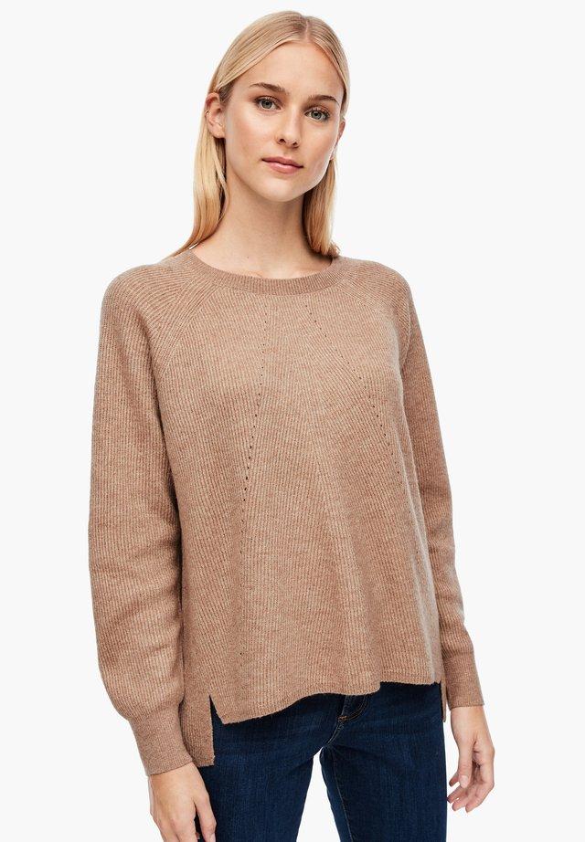 AUS GLITZER-STRUKTURSTRICK - Maglione - beige knit
