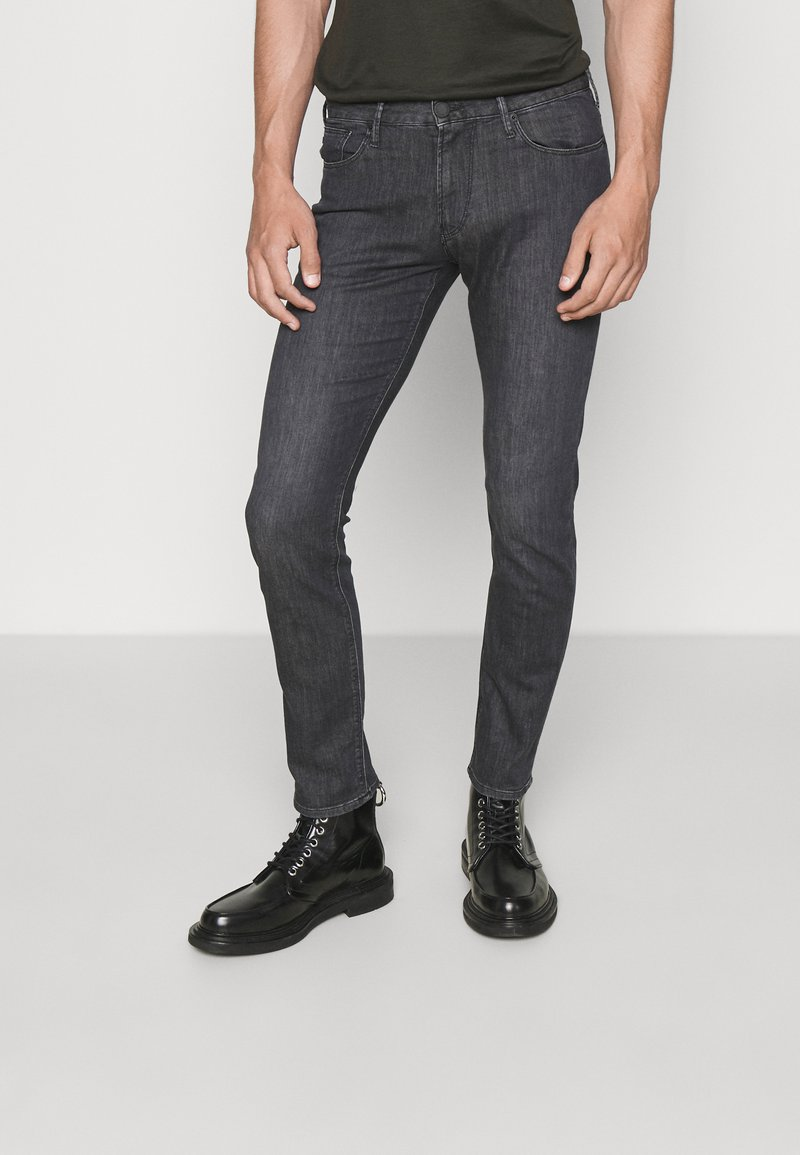 Emporio Armani - POCKETS PANT - Slim fit jeans - nero