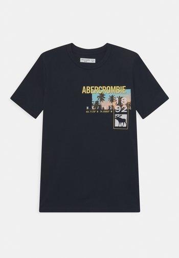 PHOTOREAL PRINT LOGO - Print T-shirt - navy