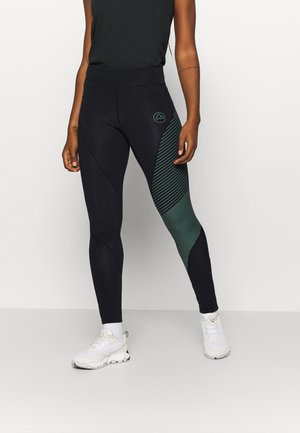SUPERSONIC PANT  - Collants - black/grass green