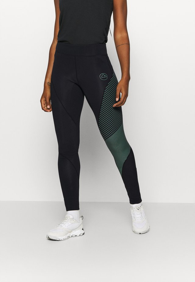 SUPERSONIC PANT  - Legging - black/grass green