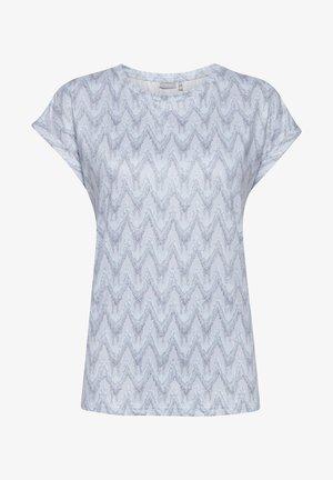 Print T-shirt - brunnera blue mix