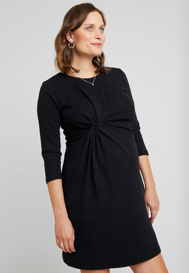 DRESS 3/4 SLEEVE - Sukienka z dżerseju - black