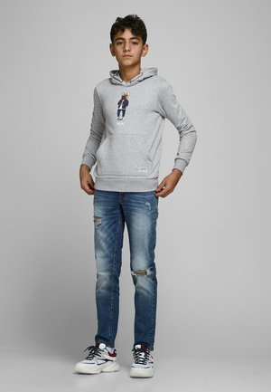 SWEATSHIRT JUNGS STATEMENT-PRINT - Mikina s kapucí - light grey melange