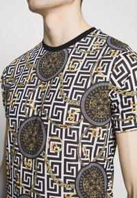 Brave Soul - CALEB - Print T-shirt - jet black - 4