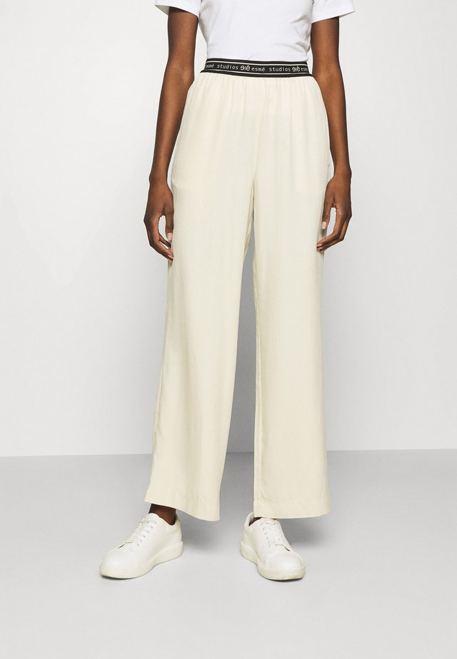 ELOISE WIDE PANTS - Kalhoty - oyster grey