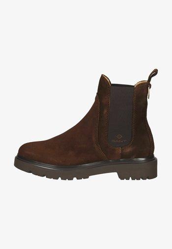 Ankle boots - darkbrown