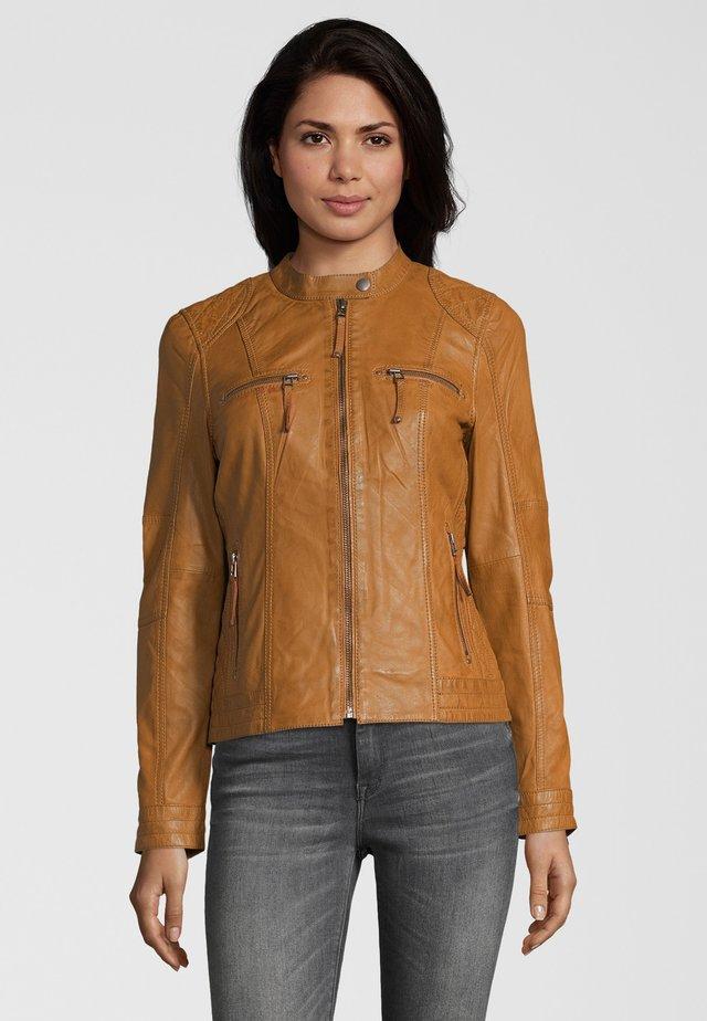 SAVONA - Leather jacket - cognac