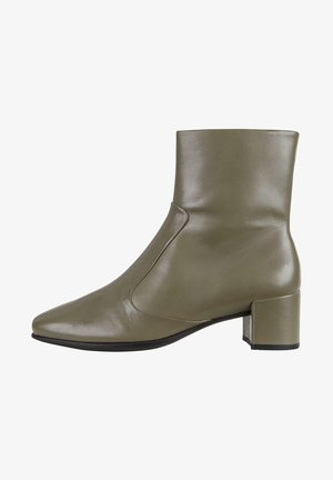 SHAPE SQUARED - Cowboy/biker ankle boot - warm grey