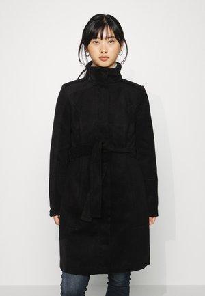 VIPOKU HIGH NECK COAT - Classic coat - black