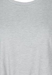 Zizzi - Print T-shirt - light grey melange - 4