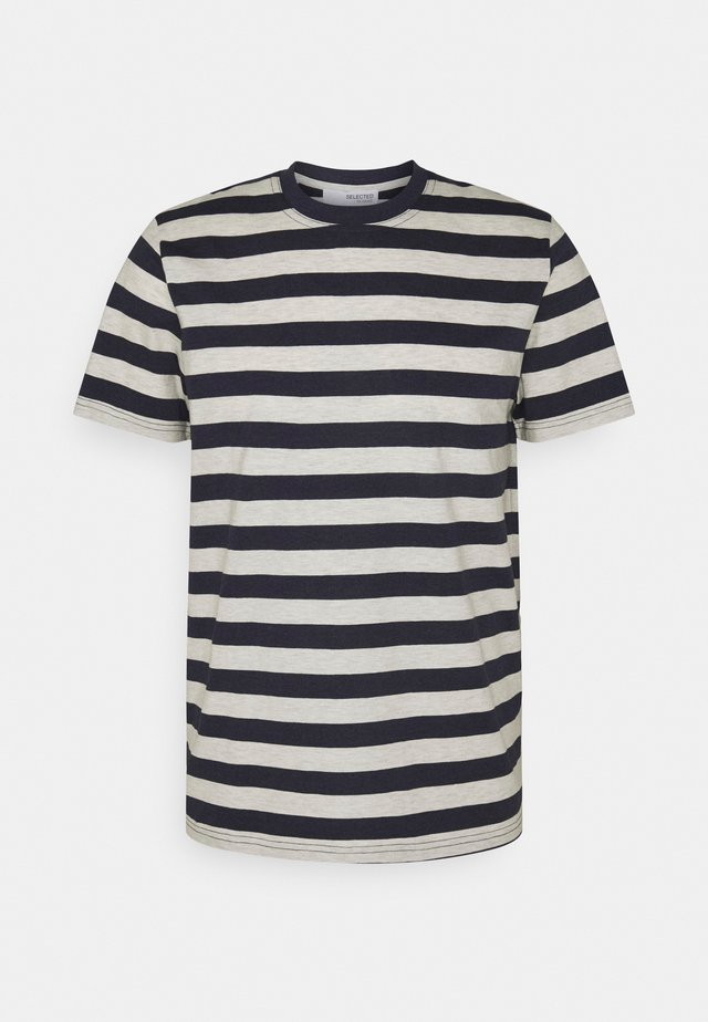 MAXWELL ONECK TEE - T-shirt con stampa - sky captain/melange